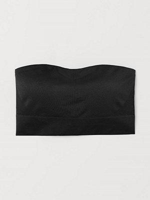 H&M Seamless bandeau-bh svart