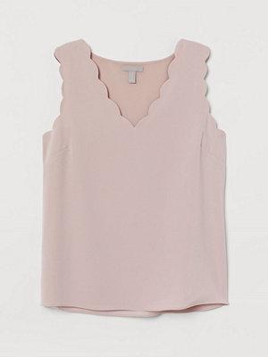 H&M Ärmlös blus rosa