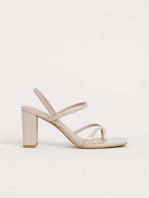 H&M Sandaletter med blockklack beige