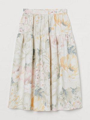 H&M Mönstrad kjol vit