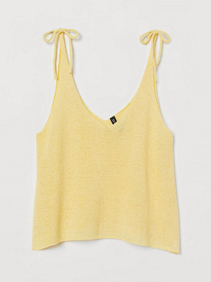 H&M Stickat linne gul