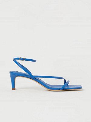 H&M Sandaletter i läder blå