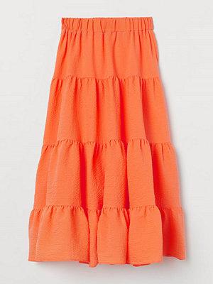 H&M Vid maxikjol orange