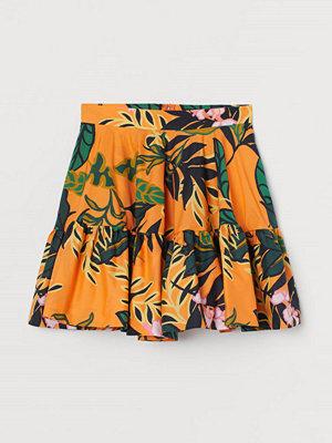 H&M Utställd kjol orange