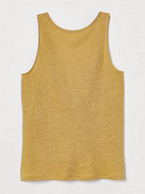 H&M Tanktop i lin gul