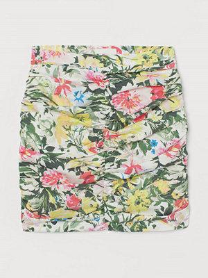 H&M Draperad kjol rosa