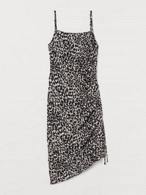H&M Klänning med dragsko svart