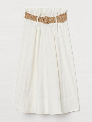 H&M Kjol med skärp vit