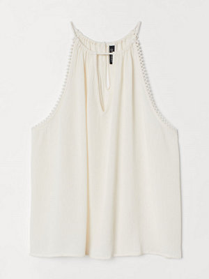 H&M Krinklat linne vit