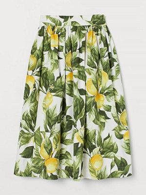 Kjolar - H&M Mönstrad bomullskjol gul