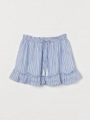H&M Kort bomullskjol blå