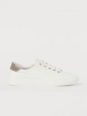 H&M Sneakers med glitter vit