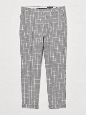 H&M Kostymbyxa i linmix Slim Fit grå