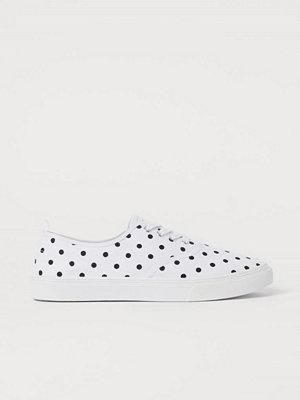 H&M Sneakers i canvas vit