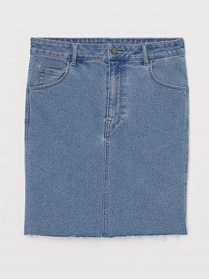 H&M Kort jeanskjol blå