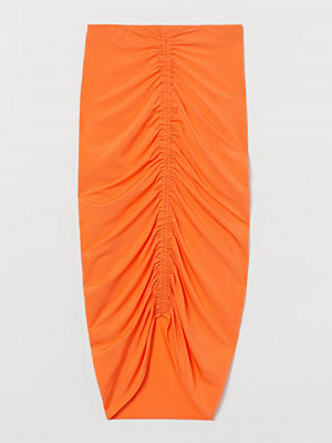 H&M Draperad kjol orange