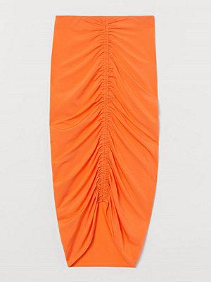 H&M Draperad kjol orange