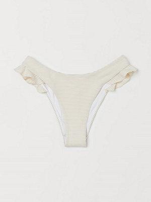 H&M Bikinitrosa med volanger beige