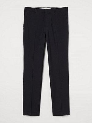 H&M Kostymbyxa i ullmix Slim Fit svart