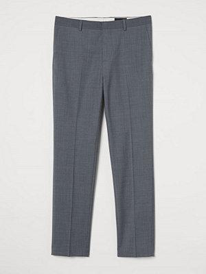 H&M Kostymbyxa i ullmix Slim Fit grå