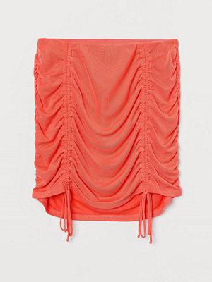 H&M Draperad kjol i mesh orange
