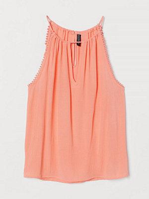 H&M Krinklat linne orange