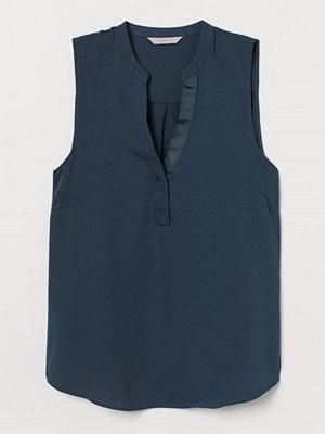 H&M V-ringad blus turkos