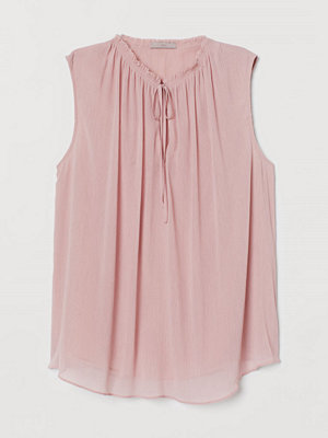H&M Blus med smock rosa