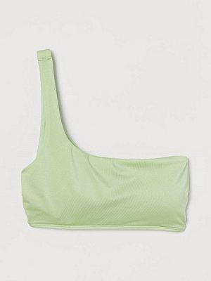 H&M One shoulder-bikinitopp grön