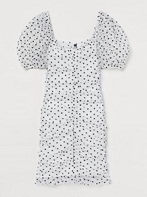H&M Draperad tyllklänning vit