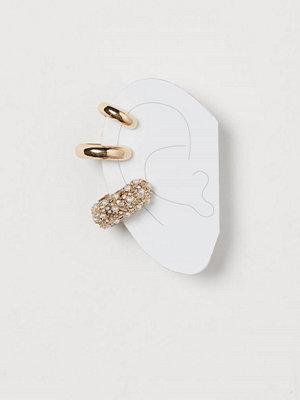 H&M örhängen 3-pack earcuffs guld