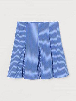 H&M Utställd kjol blå