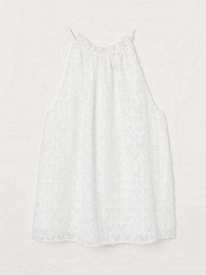 H&M Jacquardvävt linne vit