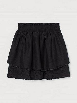 H&M Volangkjol i bomull svart