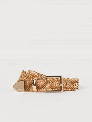 H&M Skärp i metall guld