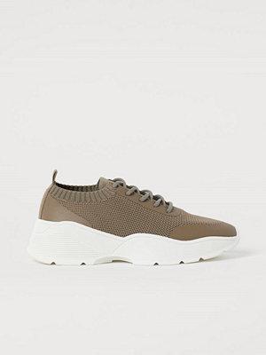 H&M Formstickade sneakers beige