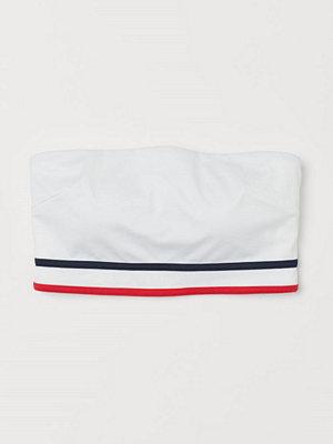 H&M Vadderad bandeaubikini-bh vit