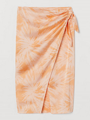 H&M Mönstrad omlottkjol orange