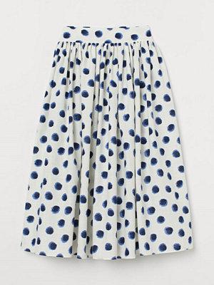 H&M Utställd bomullskjol blå