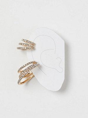 H&M örhängen 2-pack earcuffs med strass guld