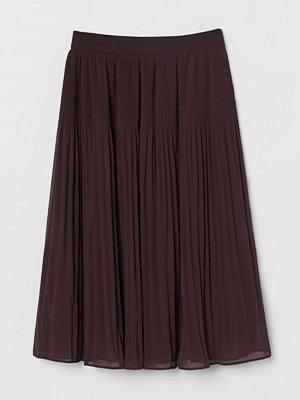 H&M Plisserad kjol röd