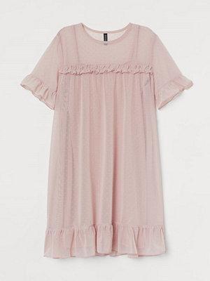 H&M Klänning i mesh rosa