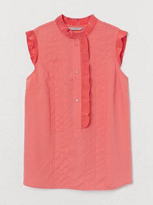 H&M Blus med plissering röd