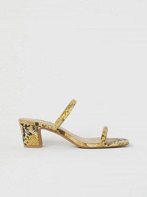 H&M Slip in-sandaletter gul