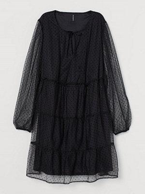 H&M H & M+ Klänning i mesh svart