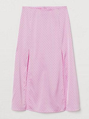 H&M Kjol med slitsar rosa