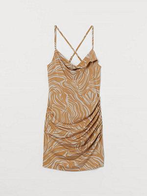 H&M Draperad miniklänning beige