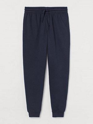 Byxor - H&M Sweatpants Regular Fit blå