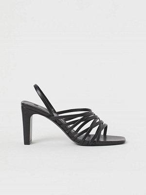 H&M Remsandaletter svart