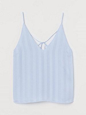 H&M V-ringat linne blå